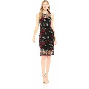 Calvin Klein Women's Lace Floral Sheath Dress